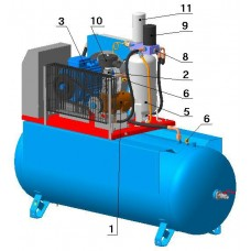 Винтовой компрессор с ременным приводом ВК40-8(10/13/15)Д